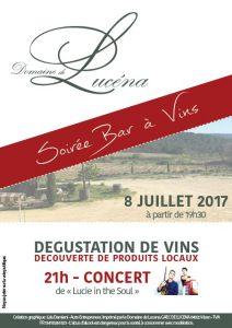 Soirée Bar à Vins – Concert – Samedi 8 Juillet 2017