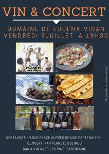 Vin & Concert – 9 Juillet 2021